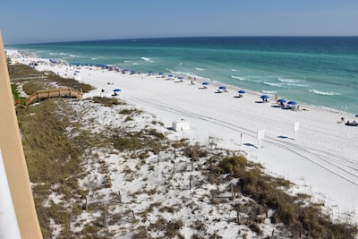 View of beach to the east from 30' Balcony