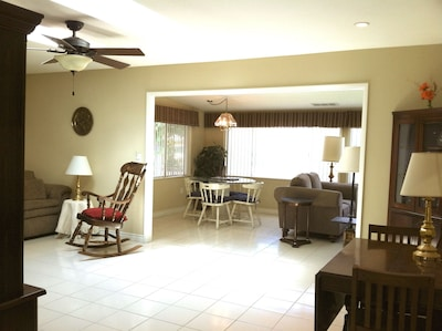 Looking from living room into family room.