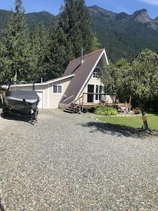 """A"" Frame Cabin in a beautiful mountain setting"