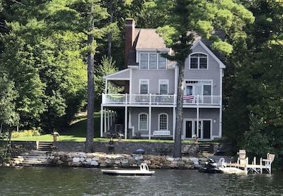 """Moosehead Lodge"" taken from the lake."