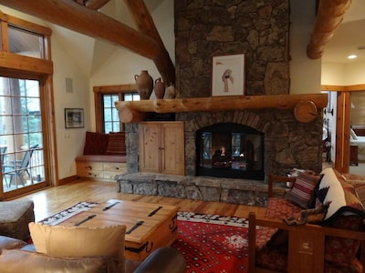 View of Great Room/Gas fireplace