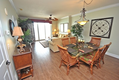 Dining Area Seats 6! Living Area Opens To Spacious Private Balcony W/Seating!