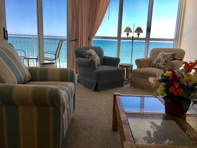 Our penthouse floor condo seems to bring sky, Gulf of Mexico and beach inside.