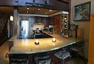 The newly remodeled kitchen is elegant and functional with all new appliances.