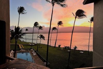 Sunrise is breathtaking from the Maalaea Kai Penthouse Suite!