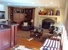 SCORPIO 202 Interior living room w/ fireplace.