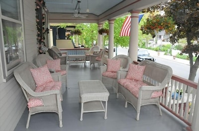 Our beautiful porch overlooking historic Jackson Street.