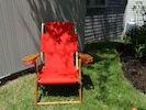 """Cape Cod Beach Chairs,  custom-made, and  embroidered with """"The Bradford House"""""""