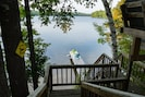 Stairs from the deck to the dock