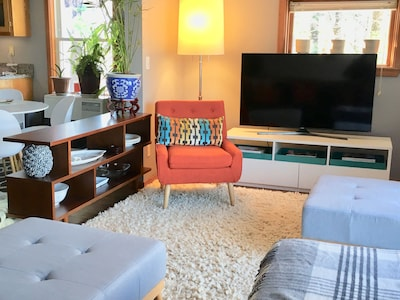 Side View of TV from Living Room couch