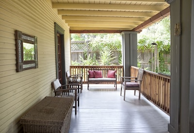 In the morning, grab your coffee and enjoy the view from the porch.