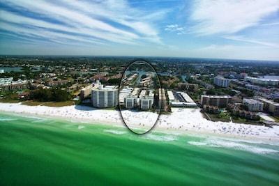 Crescent Arms Condo on Siesta Key's world famous powder white sand beach