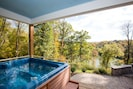 River views in a hot tub, can you beat it?
