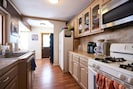 Kitchen with Keurig & regular coffee makers.