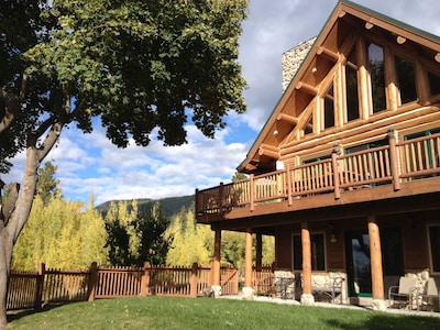 Log Home with Fenced Front Yard