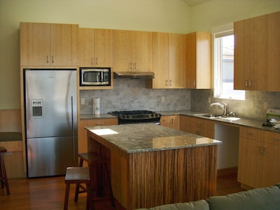 Fully Equiped Kitchen with Bamboo Cabinets