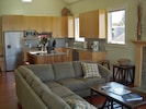 Open and Inviting Living and Dining Area