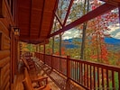 Gatlinburg Getaway Main Level Deck (View of Mount Leconte)