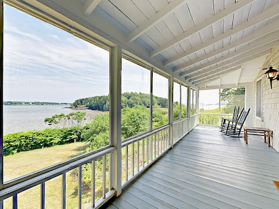 porch overlooking the bay and ocean