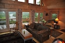 Great room with river view