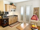 Kitchenette with French entry-doors