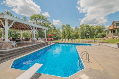 Jump in!  Crystal clear, in-ground pool with optional heat