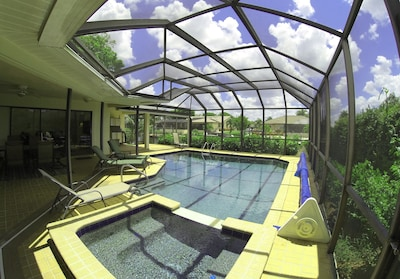 South-East facing heated pool - Lots of sun, wonderful view & great family fun.