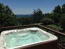 Huge hot tub is fun day or night..colored LED lights at night make it great fun!