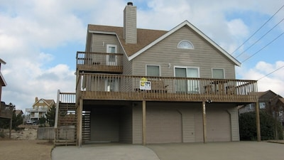 Front of house-large, fenced corner lot.