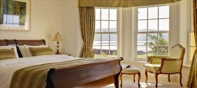 Master bedroom overlooking Dingle Harbour