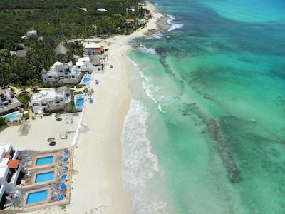 The Secret Beach Villas - Arial View - Family Friendly Beach Vacation Home