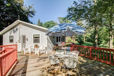 Large deck to relax and enjoy dinner or your morning coffee