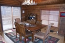Dining Room with sliding glass door that leads to the large deck area