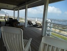 Huge deck located right off main level that has both shade and sun.