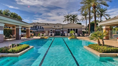 Get your laps in at the large and luxurious complex pool.