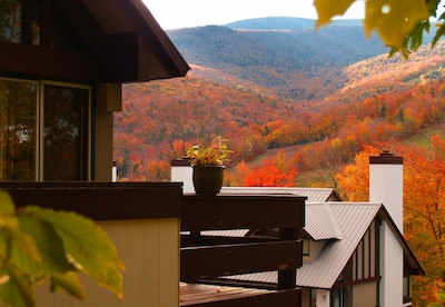 Autumn view of the mountains