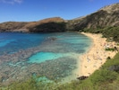 Hanauma Bay as all visitors arriving early in the morning see it in it`s best!