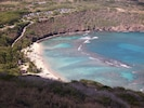 Photo by Milan from top of HanaumaBay Hike only 10min on foot from AlohaPalace!