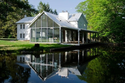 The 1820 manor home has been fully renovated and featured in Dwell magazine and other major design publications.