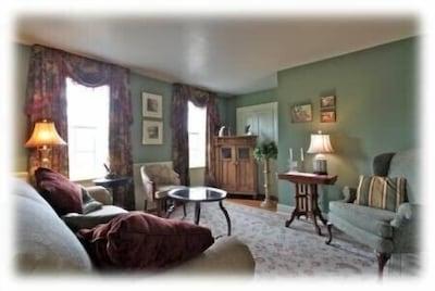 Warm Living Room w/ TV