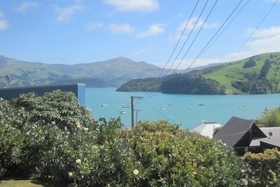 View from house looking out over Akaroa