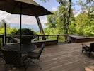 Spacious deck surrounds the home