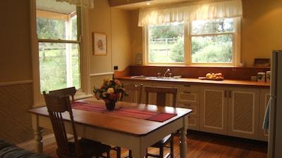 The kitchen at Lottie's Cottage