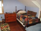 Upstairs second bedroom with twin bed and double futon