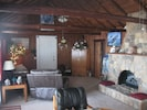 Another view of the living room and fireplace!!