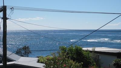 Panoramic view to the beautiful ocean
