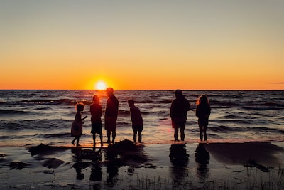 Family time and sunsets. Nothing better!