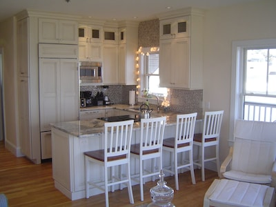 Fully-applianced kitchen.