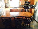 Master kitchen with 4 island seating capacity.
