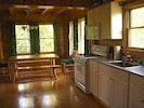 Birch Overlook Cabin - Enjoy a fully stocked kitchen and sunny dining area.